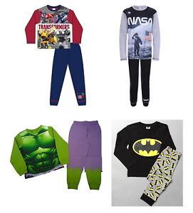 Boys Character PJ's Avengers, Harry Potter, Hulk, Batman  Long Pyjamas 1-12Years