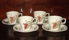 Midwinter Pottery Stylecraft SHERWOOD-Jessie Tait -Vintage Cups & Saucers c1950