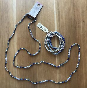Fat Face Necklace And Bracelet Set