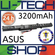 Batteria compatibile 3200mAh per ASUS ROG GL752VW-T4016T 4 CELLE NERO PILA NUOVA