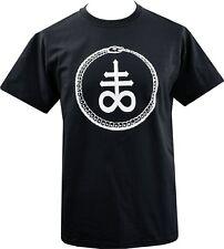 Mens Satanic T-Shirt Leviathan Cross Alchemy Satan Goth Gothic Infinity Snake