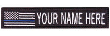 Thin Blue Line USA Flag Personalized Embroidered Name / Text Tag Patch