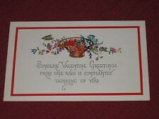 Antique Sincere Valentine Greetings Postcard #482 Embossed NOS EXC