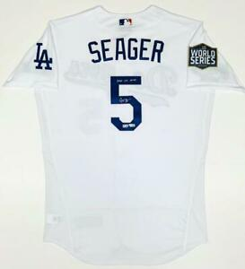 """COREY SEAGER Autographed """"2020 WS MVP"""" Authentic World Series Jersey FANATICS"""