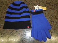 NEW   UNISEX PENGUIN WINTER BEANIE & GLOVE SET --ROYAL /BLACK -   $45.00