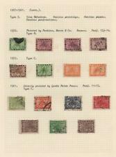 NEPAL: 1907-1941 Examples - Ex-Old Time Collection - Album Page (33860)