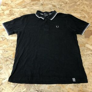 Mens Polo Top XL Extra Large Fred Perry The Specials Black B6095