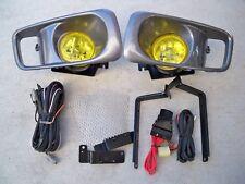 99 00 Honda Civic 2/3/4 Door EK EM JDM Yellow Fog Light Kit + Harness+ Switch Si