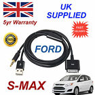 FORD SMAX 1529487 For Apple 3GS 4 4S iPhone iPod USB & 3.5mm Aux Audio Cable blk