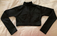 Alleson Cheer Crop Black Top Youth large