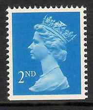 GB 1989- sg1445 2nd Brt Blue photo. centre band imperf edge(s) MNH