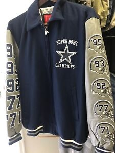 Vintage Throwback Leather/wool Dallas Cowboys Super Bowl Champion Jacket