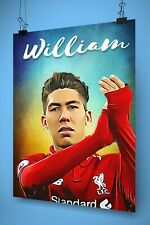 ROBERTO FIRMINO LIVERPOOL Personalised Poster A4 Print Wall Art Banner Any Name