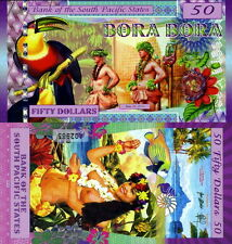 SOUTH PACIFIC STATES - Bora Bora 50 dollars 2016 Polymer FDS UNC