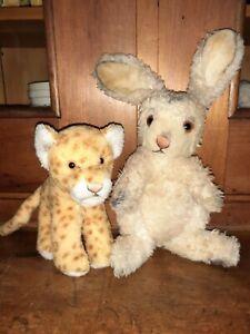 Genuine Steiff Rabbit & Tiger VINTAGE STEIFF    STEIFF STUFFED     STEIFF TOY