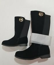 MICHAEL KORS EMMA LILY -T TODDLER/BABY BLACK SUEDE BOOTS GIRLS SIZE 7