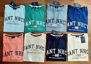GANT NHCT Chest Print Summer Round Neck Men's Tee Shirt, 100% Cotton SS TShirt