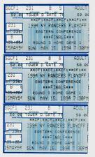 1994 New York Rangers (World Champions) Eastern Conf. Playoffs - 3 Ticket Stubs