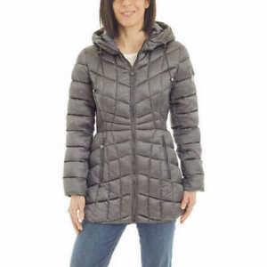 NWT Bernardo Women's Packable Puffer Hooded Jacket