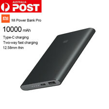 Xiaomi Mi Pro 10000mAh Power Bank USB-C Micro-USB Charger Utral Thin PLM03ZM
