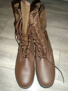 WELLCO WP JUNGLE ARMY BOOTS BROWN LEATHER SIZE 10M BRITISH ARMY NEW