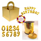 GOLD FOIL BALLOONS CAKE BOX BALOON WEIGHT HAPPY BIRTHDAY FOIL BALLON