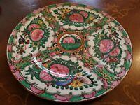 piatto in ceramica orientale made hong kong W.L. arredo casa  vintage