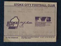 Stoke City v Tottenham Hotspur - 2/3/85 - Ticket