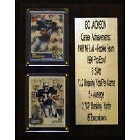"NFL 8""X10"" Bo Jackson Oakland Raiders Career Stat Plaque"