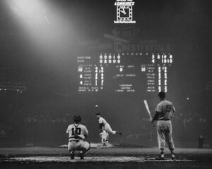 "Ted Williams & Billy Pierce- 8"" x 10"" Photo- 1957- Comiskey Park Baseball"