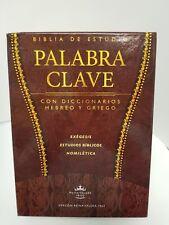 BIBLIA PALABRA CLAVE CON DICCIONARIO HEBREO-GRIEGO MARRON