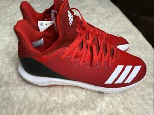Adidas Icon Bounce Hybrid Metal Baseball Cleats Red G27334 Men's Size13