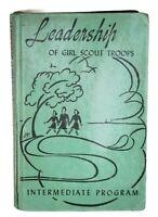 Vintage Leadership of Girl Scout Troops Intermediate Program 1943, 1950 Manual