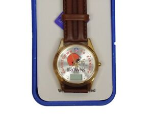 Cleveland Browns NFL Countdown Leather Band Watch