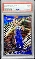Ben Simmons 2019-20 Panini Select Courtside Zebra Prizm PSA 9 Pop 1