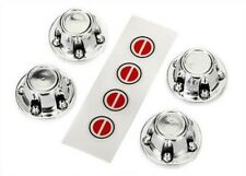 Traxxas 8176 Center Caps Wheel Chrome Decal Sheet (Requires #8255A Extended Stub