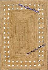 Braided Handmade Bohemian Natural Hand Woven Jute Floor Decor Rectangle 3x5 Feet