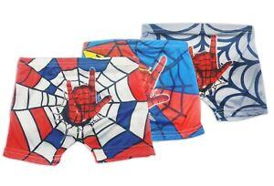 Boys Kids 3 Pack Paw Patrol Spiderman Boxer Shorts Underwear 3-12 years