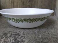 "Corelle Livingware Corning Crazy Daisy Green Spring Blossom 8.5"" Serving Bowl"