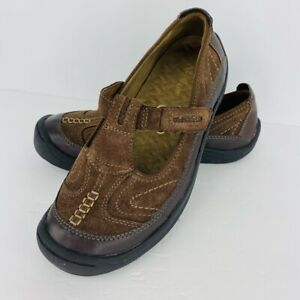 Cobbie Cuddlers Brown Suede Leather 6.5 W Eileen Mary Janes Flat Shoe Buckle