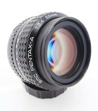 Fast SMC Pentax-A 50mm f1.4 Manual Standard Lens Pentax PK-A Mount  Free UK P&P!