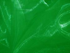 A09(Per Meter)Bright Green Crystal Mirror Organza Darpping Sheer Fabric Material