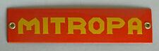 Emailleschild MITROPA 20x5 cm. Ideal für LGB Gartenbahn und Modellbahnzimmer