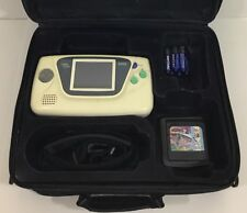 Sega Game Gear LIMITED WHITE Clean Tested New Caps + Screen + Case + Sonic 2