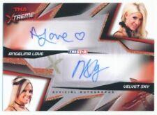 """VELVET SKY & ANGELINA LOVE """"DUAL AUTOGRAPH CARD /99"""" TNA XTREME"""