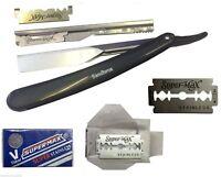Cut Throat Shaving Razor Straight Disposable Mens Grooming Razors +10 Blade dr21