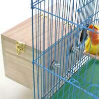 Parakeet Nest Box Budgie Nesting House Breeding Box Bird Lovebirds Parrots X8I8