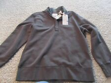 Tommy Bahama Grey 1/4 Zip Sweater Jacket NWT Large $110