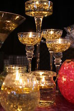 200 FLOATING CANDLE FLOATS & 200 LONG BURNING WICKS WEDDING TABLE CENTREPIECE