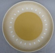 Denby UK Ode Pattern Dinner Plate Stoneware 1970s gold yellow white Geometric